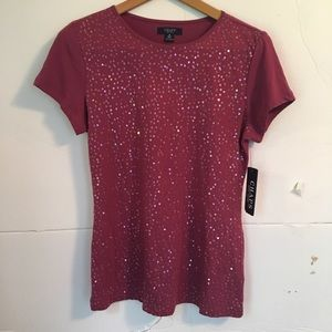 Chaps sequin top NWT